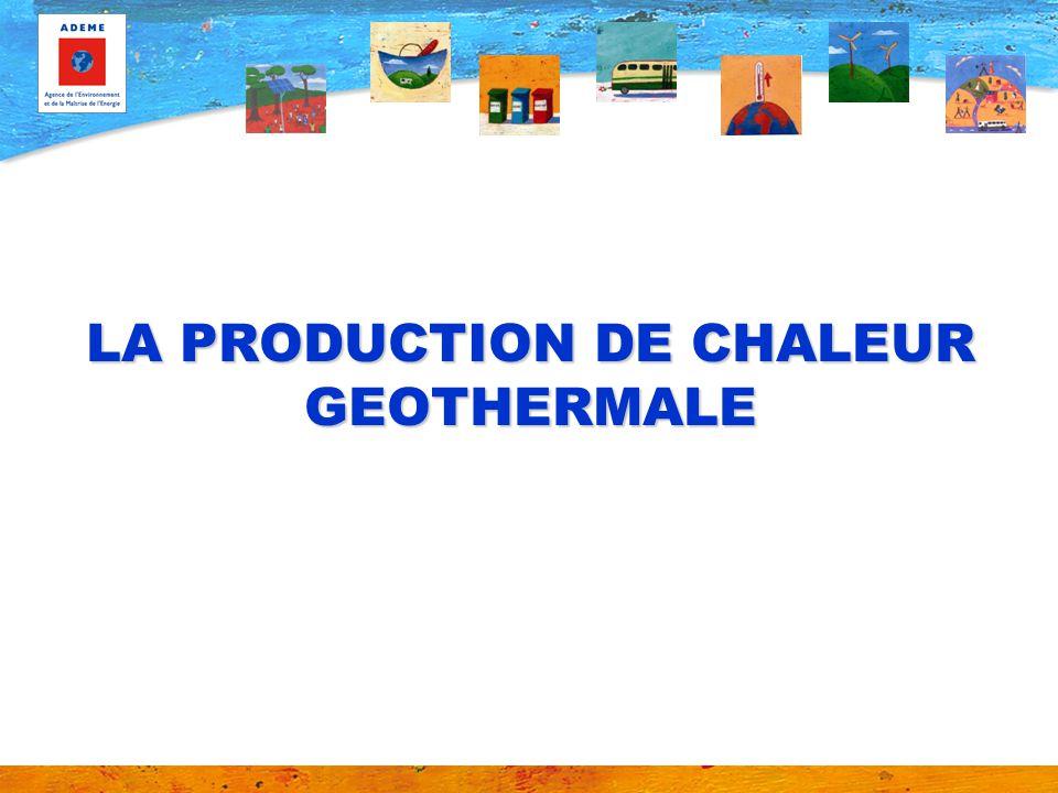 La production de chaleur géothermale Activité présente dans une cinquantaine de pays, 2ème source de production de chaleur par énergie renouvelable dans le monde, après le bois-énergie, La France, pays leader dans le domaine, Une très grande diversité de techniques utilisables