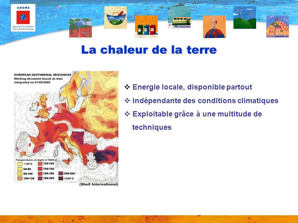 Géothermie : définition Cependant, proche de la surface, la chaleur présente dans le sous-sol est plutôt de la chaleur stockée liée au rayonnement solaire et aux précipitations ; linfluence du flux géothermal y est moindre.