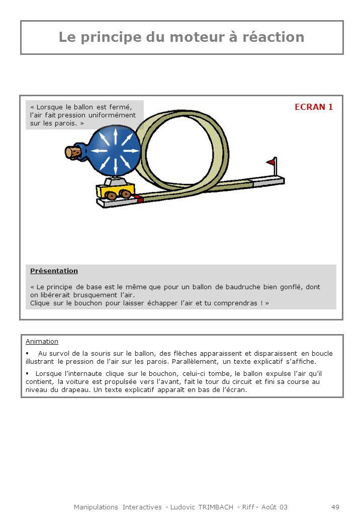 Manipulations Interactives - Ludovic TRIMBACH - Riff - Août 0350 « Une fois le ballon gonflé, la pression de lair est beaucoup plus importante à lintérieur quà lextérieur du ballon.