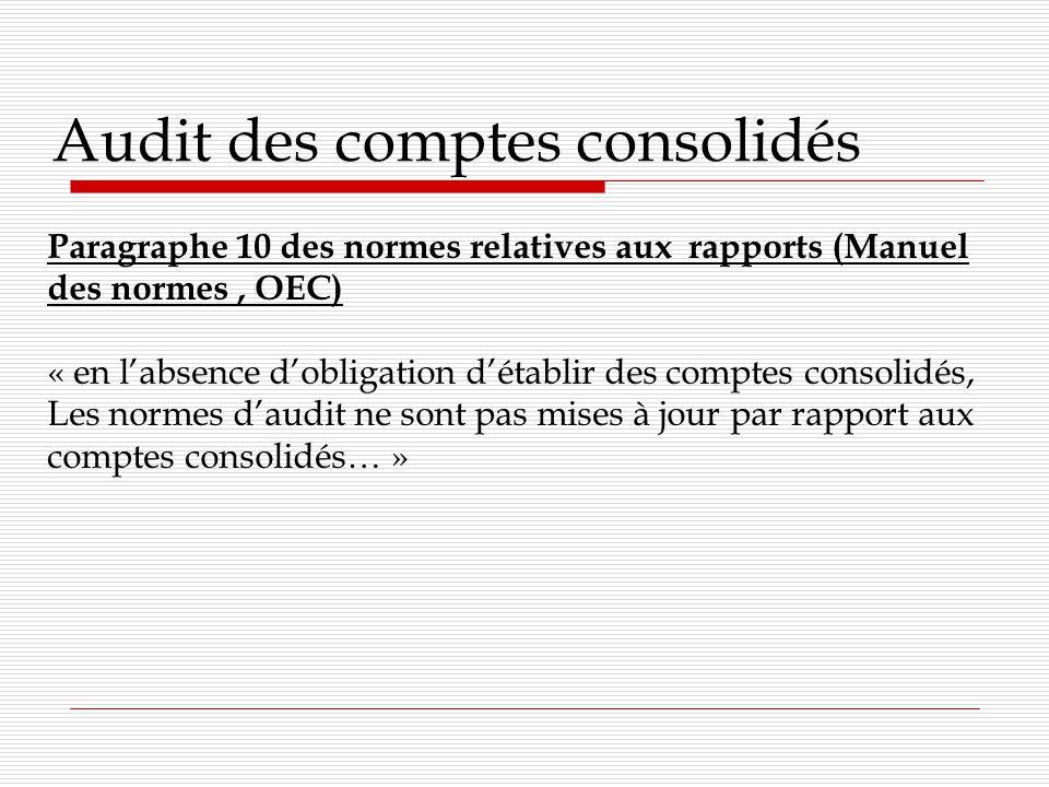 Audit des comptes consolidés NEP-200.