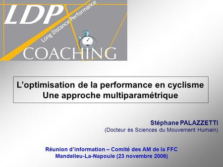 L'optimisation de la performance en cyclisme