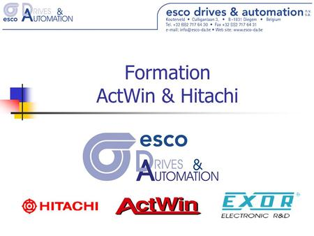 Formation ActWin & Hitachi