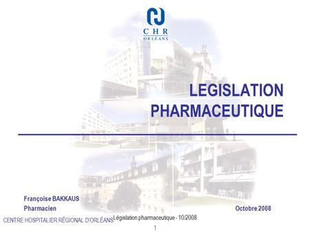 LEGISLATION PHARMACEUTIQUE
