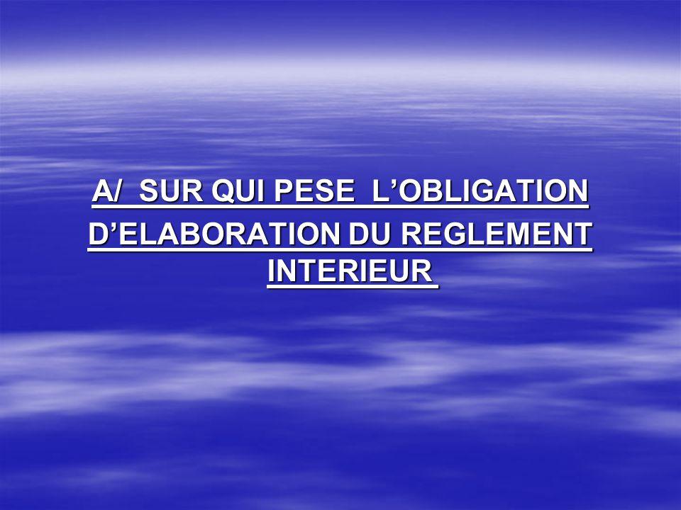 Dans les organismes employeurs occupant vingt travailleurs et plus lélaboration dun règlement intérieur est une obligation légale.