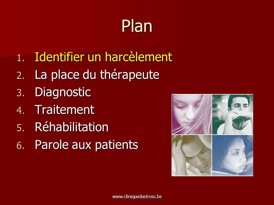 www.cliniquedustress.be Quest-ce que le harcèlement moral.