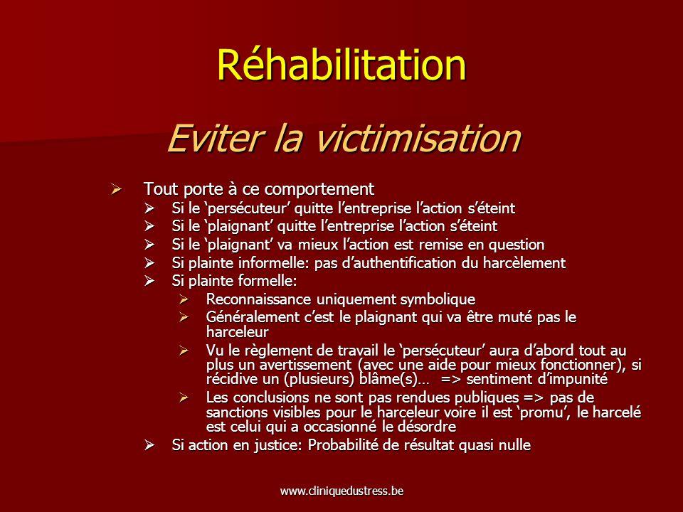 www.cliniquedustress.be Réhabilitation 1.