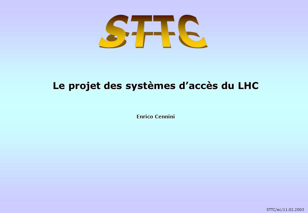 AGENDA 1.Système daccès du LHC 1. Système daccès du LHC 2.