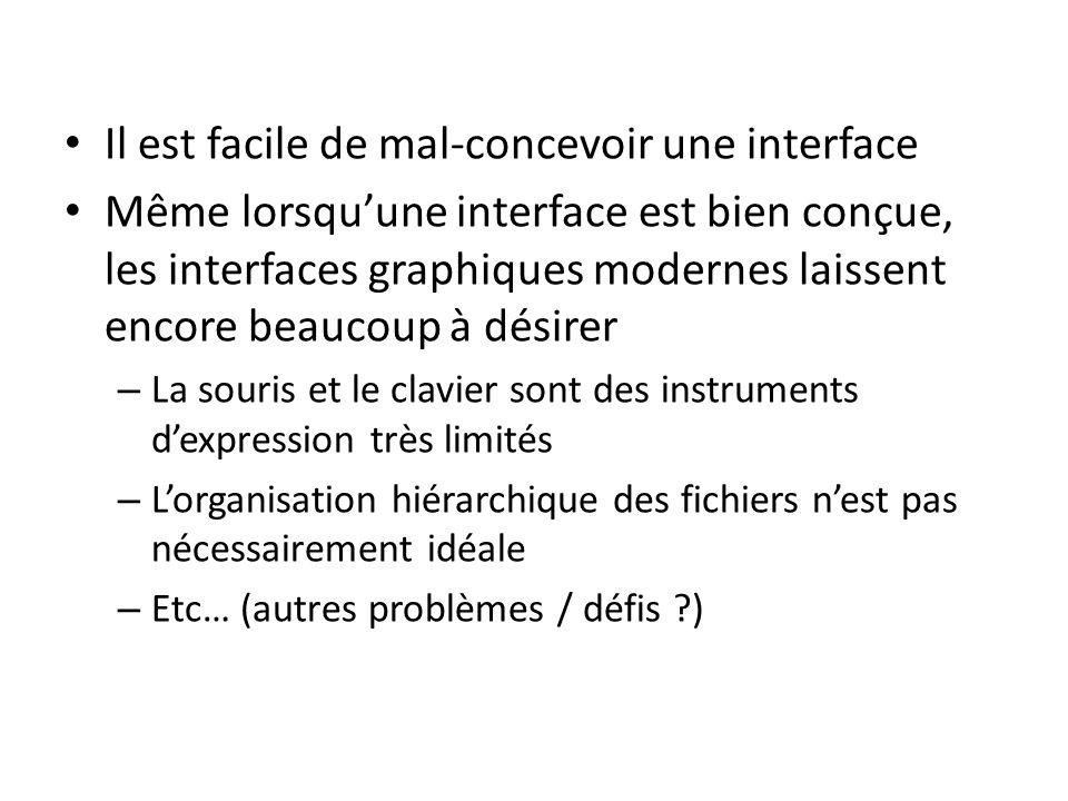 Le développement de lordinateur personnel Source: Michel Beaudouin-Lafon, Designing Interaction, not Interfaces, Proceedings of AVI 2004, http://doi.acm.org/10.1145/989863.989865