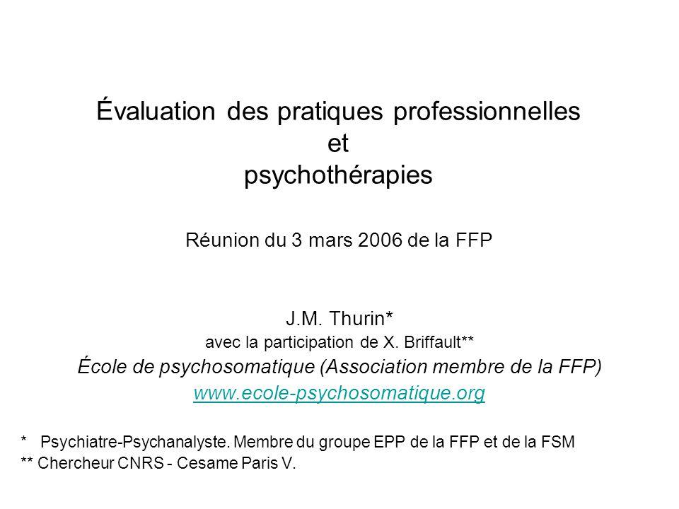 3/03/2006Journée EPP de la Fédération Française de Psychiatrie2 Reformulation En quoi la psychothérapie est-elle concernée par lEPP .