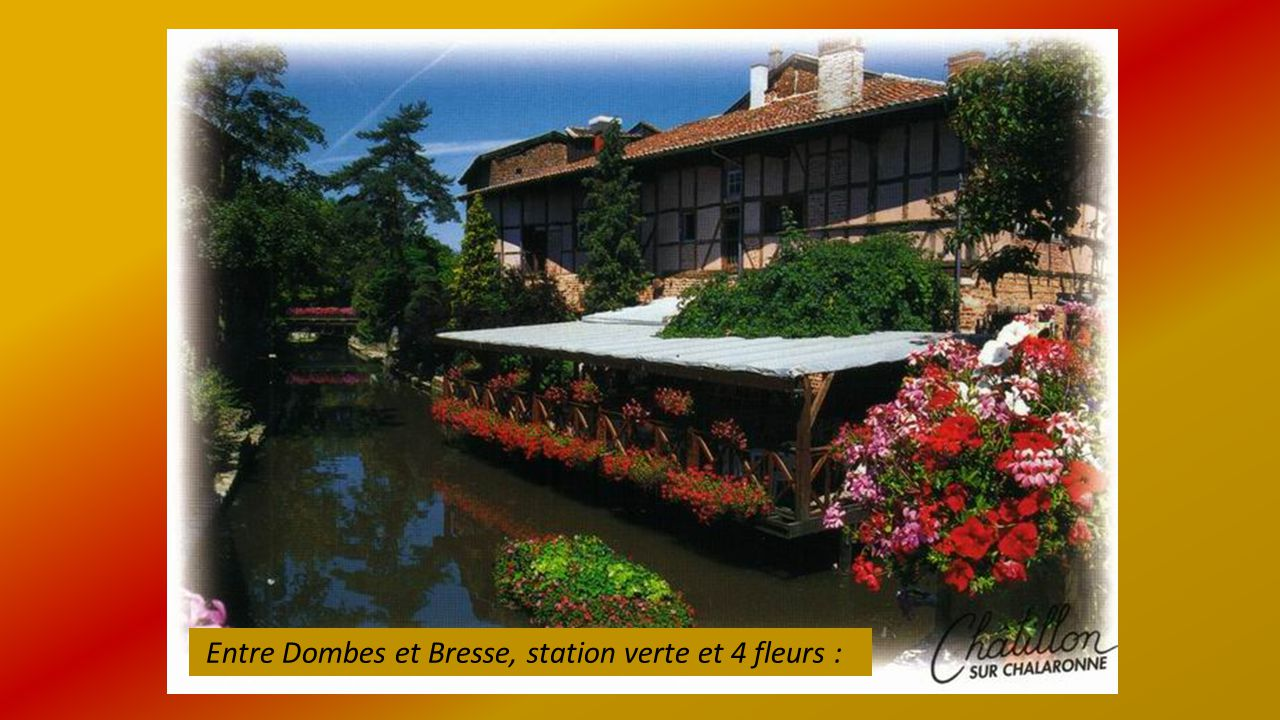 Entre Dombes et Bresse, station verte et 4 fleurs :