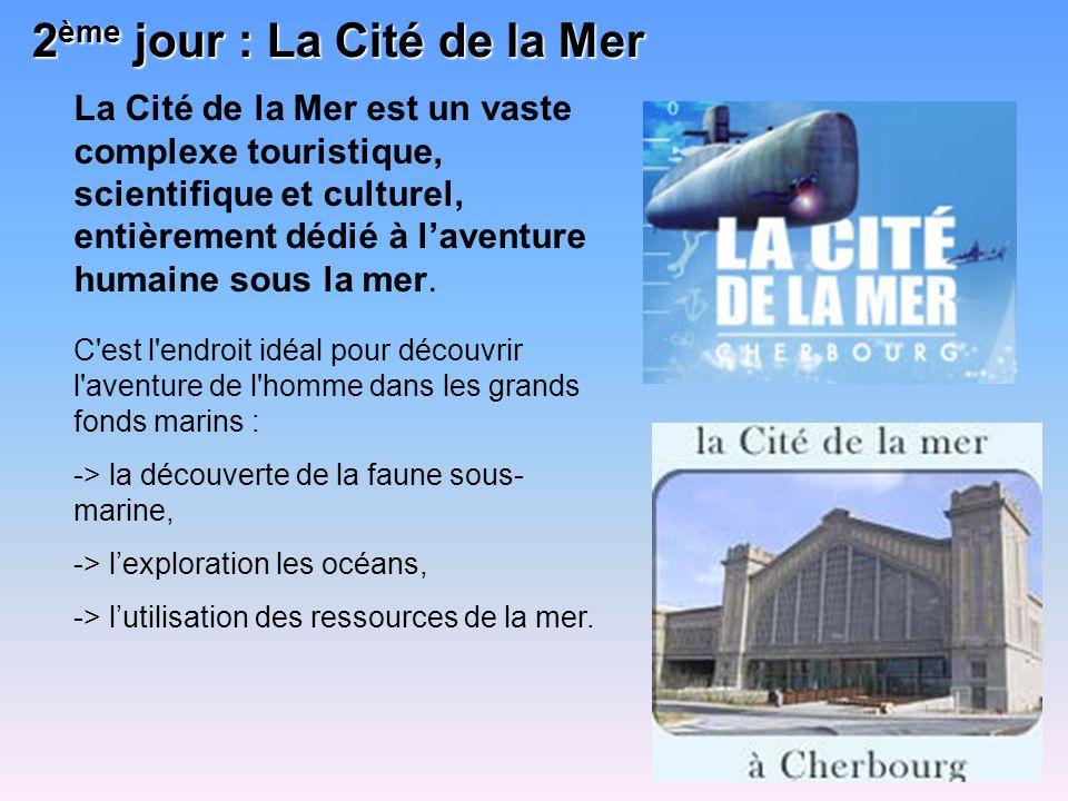 La découverte de la Cité de la Mer se déroulera en trois temps : La visite du sous-marin nucléaire, Le Redoutable La visite thématique de lexposition, axée sur lexploration des profondeurs et la respiration aquatique.