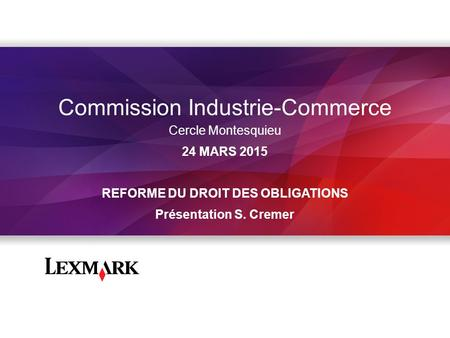 Commission Industrie-Commerce