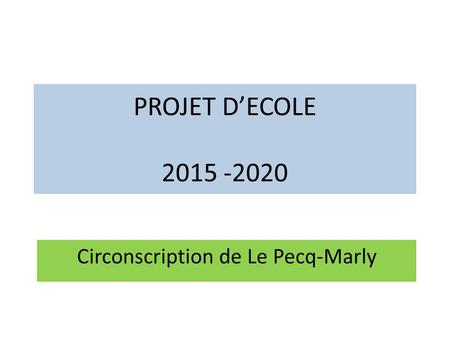 Circonscription de Le Pecq-Marly