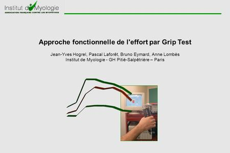 Approche fonctionnelle de l'effort par Grip Test