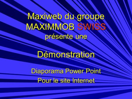 Diaporama Power Point Pour le site Internet