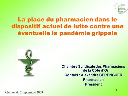 Recommandations nationales juillet 2009 grippe a h1 n1 - Chambre syndicale des proprietaires et coproprietaires ...