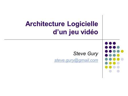 Ogre 3d temps r el open source pr sentation description for Architecture logicielle exemple