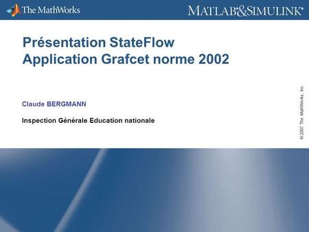 Présentation StateFlow Application Grafcet norme 2002