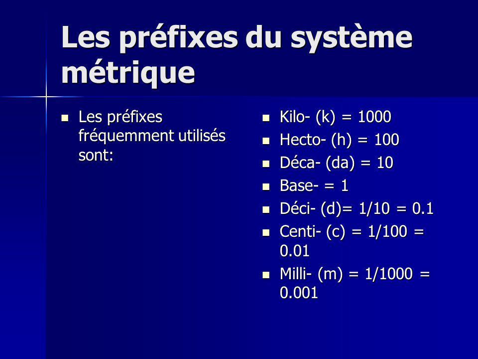Convertir des mesures entre unités métriques Pour convertir une mesure en une mesure qui utilise un préfixe différent, tu peux utiliser lescalier métrique.