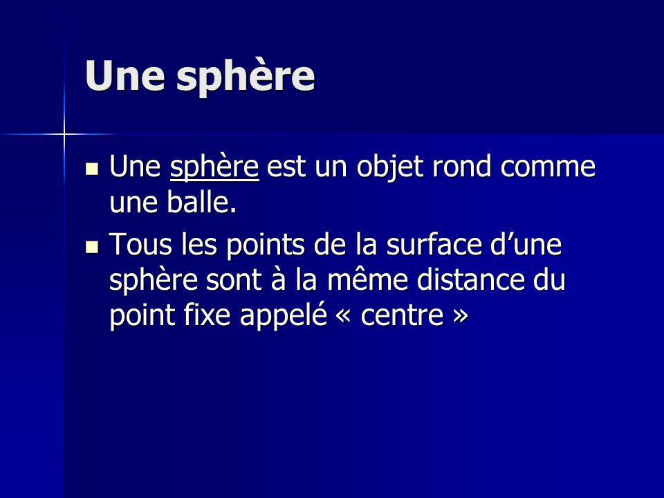 Comment calculer le volume dune sphère Pour calculer le volume dune sphère: Pour calculer le volume dune sphère: Volume dune sphère = 4/3 x Πr 3 Volume dune sphère = 4/3 x Πr 3