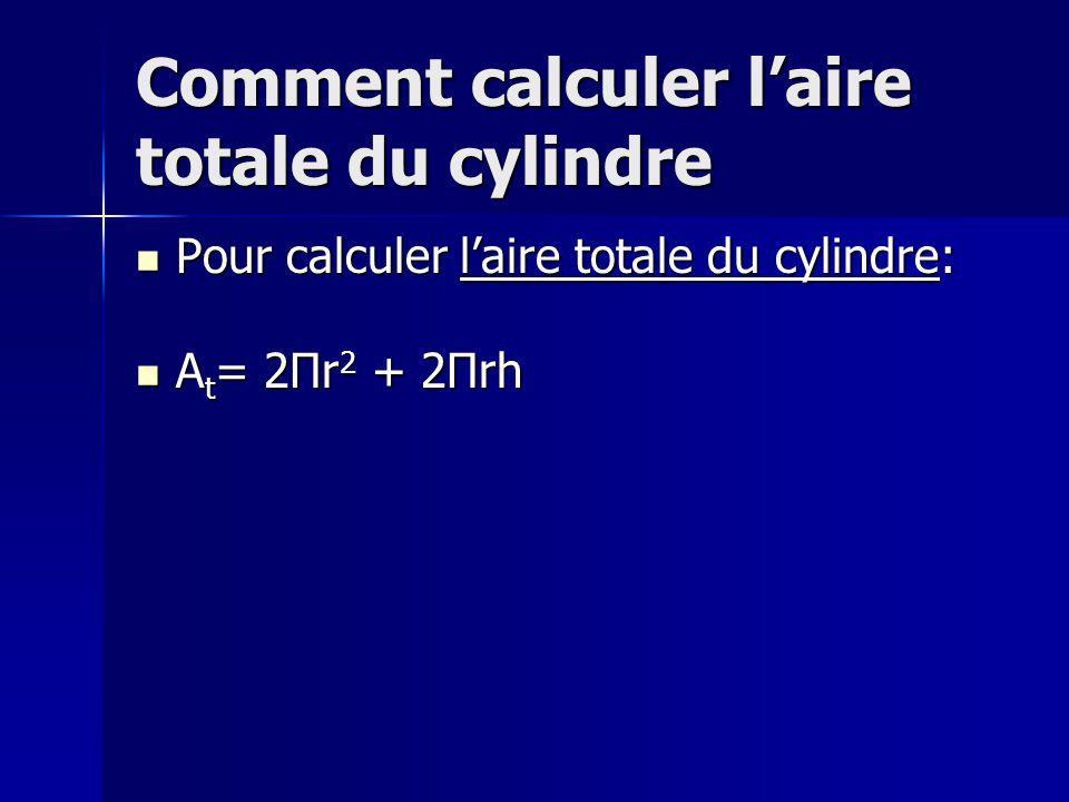 Comment calculer laire totale du cône Pour calculer laire totale du cône: Pour calculer laire totale du cône: Trouve la somme de laire de sa base et laire latéral.