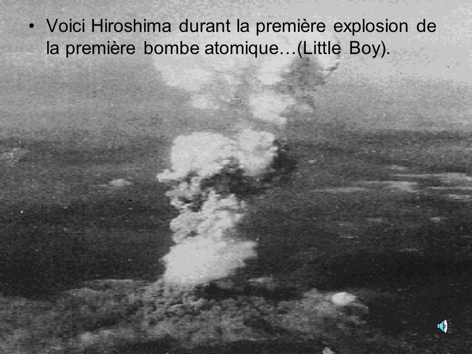 Voici Hiroshima durant la première explosion de la première bombe atomique…(Little Boy).