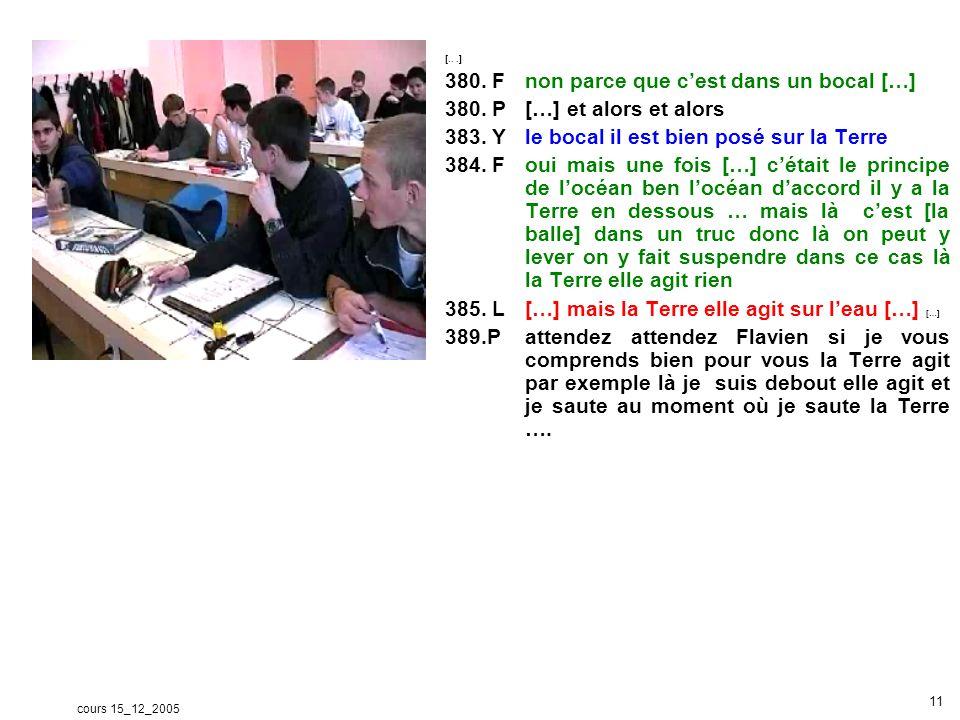 cours 15_12_2005 12 c - Avantage des données vidéo Des travaux menés en collaboration (Dufon, p.