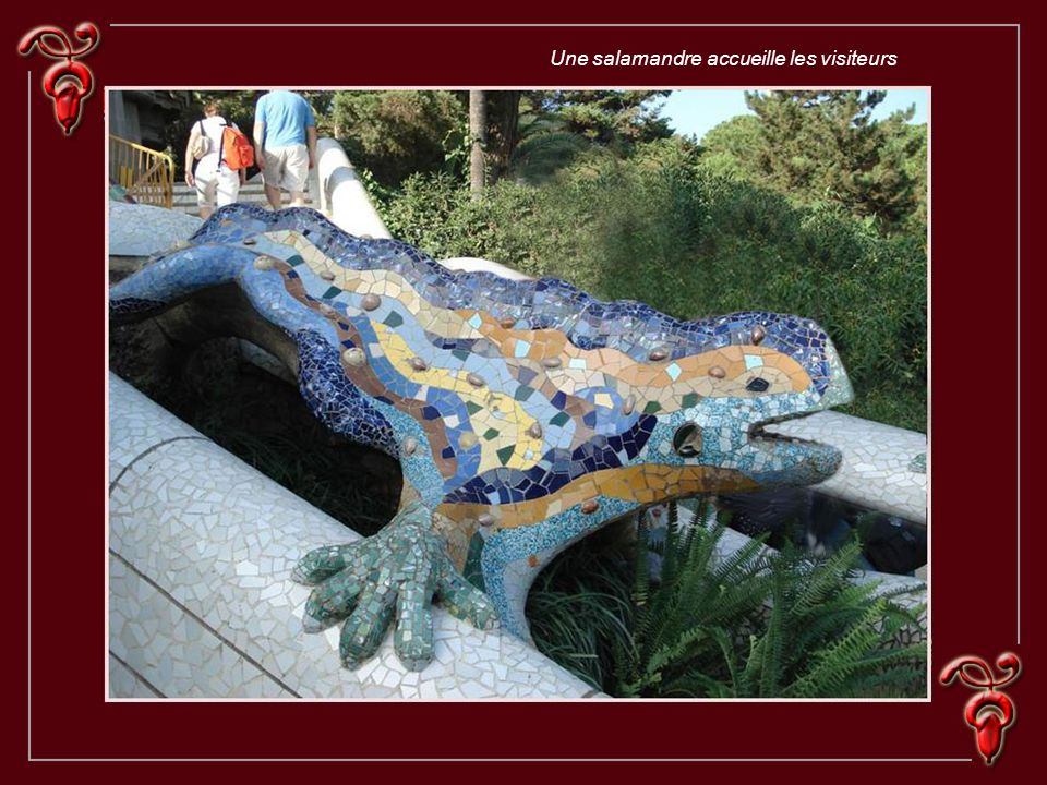 Une salamandre accueille les visiteurs
