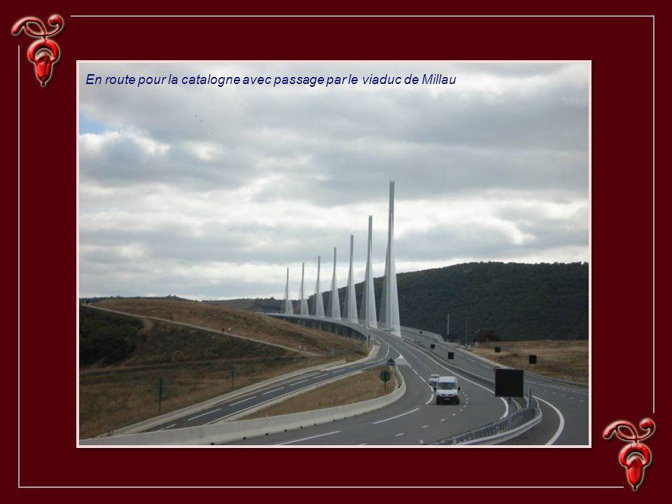 En route pour la catalogne avec passage par le viaduc de Millau