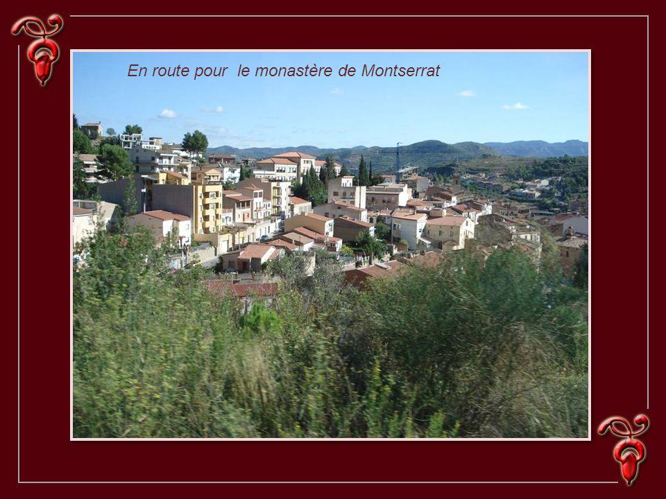 En route pour le monastère de Montserrat