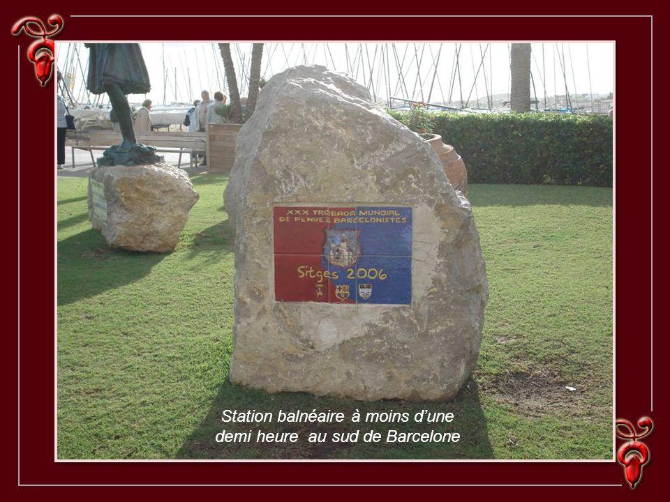 Station balnéaire à moins dune demi heure au sud de Barcelone