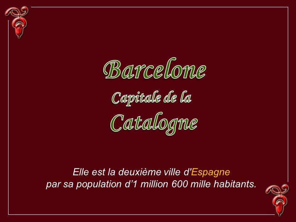 Elle est la deuxième ville d Espagne par sa population d1 million 600 mille habitants.