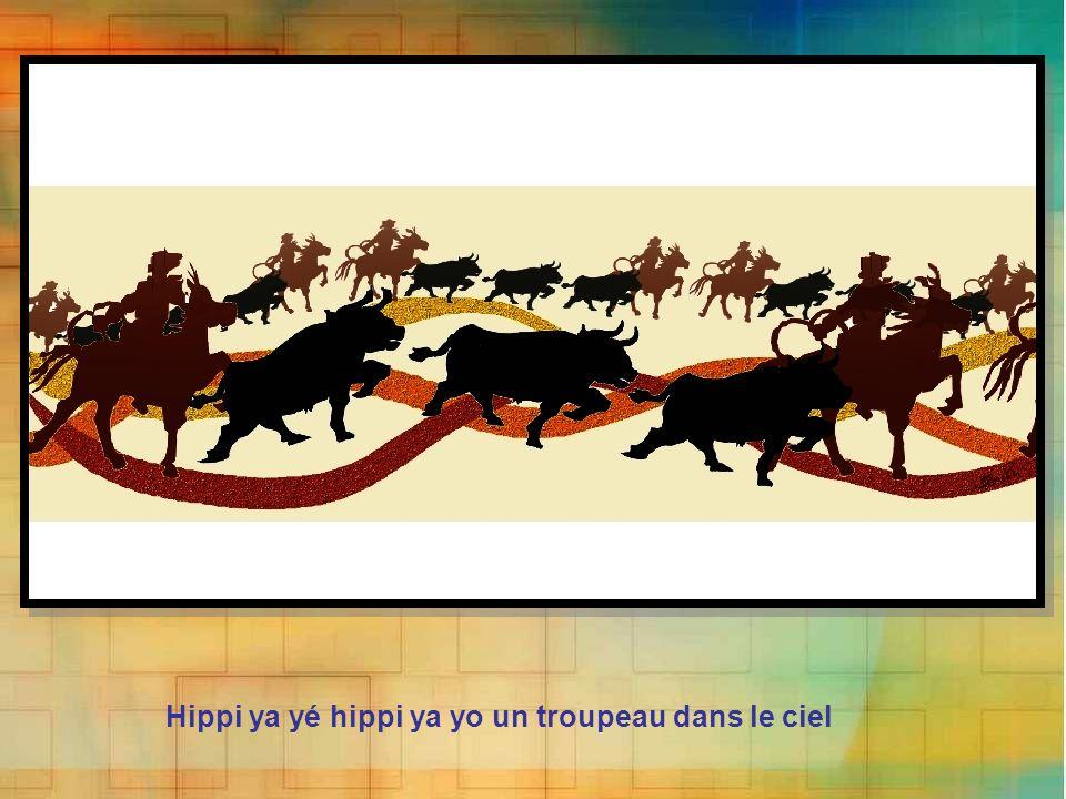 Hippi ya yé hippi ya yo un troupeau dans le ciel