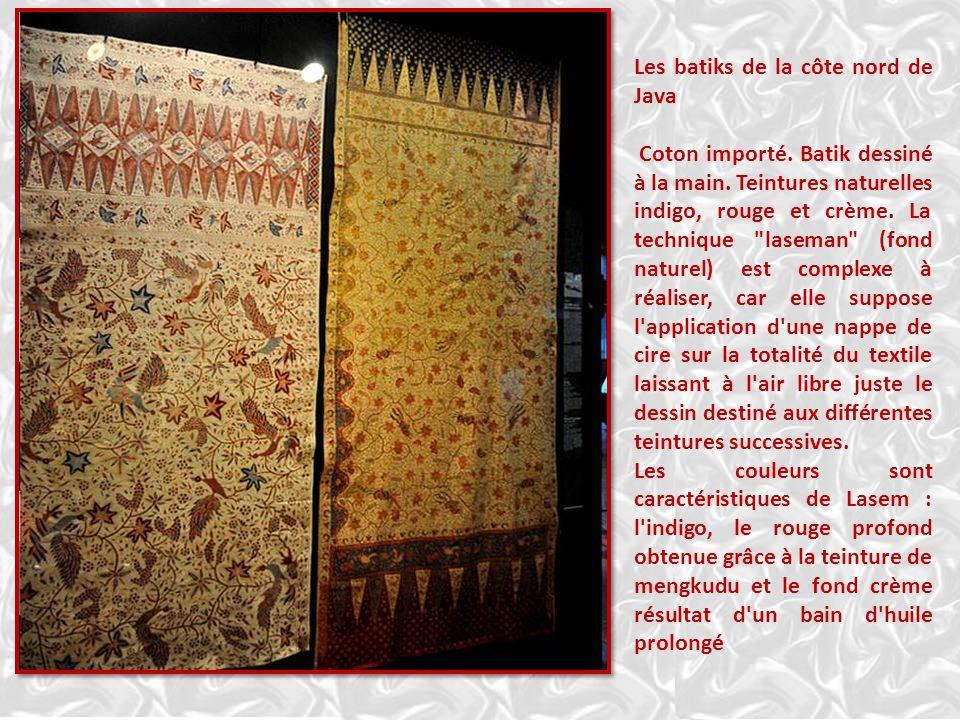 Les batiks de la côte nord de Java Coton importé.Batik dessiné à la main.