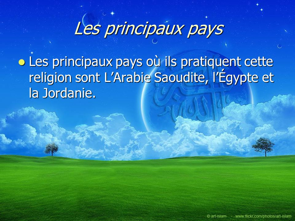 Lieu de culte Leur lieu de culte est la mosquée.Leur lieu de culte est la mosquée.