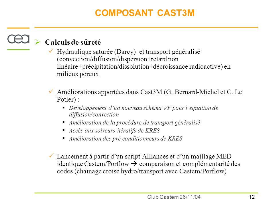 13 Club Castem 26/11/04 EXEMPLES DAPPLICATIONS : Simulation de sites de stockage (G.