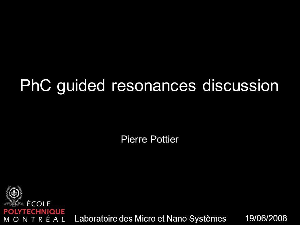Laboratoire des Micro et Nano Systèmes 2 Plan Modelisation double layer slab Guided resonances Tuning & resonances Enhancement QD localisation Fluorescence enhancement .