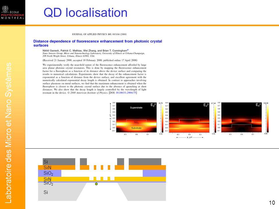 Laboratoire des Micro et Nano Systèmes 11 Fluorescence enhancement ? ? ? ?