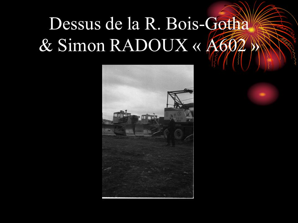 Dessus de la Simon RADOUX construction de la R. Renwa
