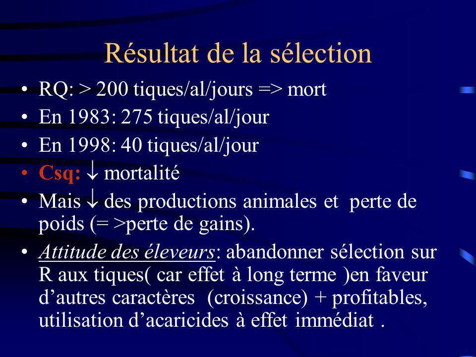 Conclusion: Regain dintérêt pour la sélection motivé par la mode viande bio( fin 90) => exploitation du croisement: B X HS.