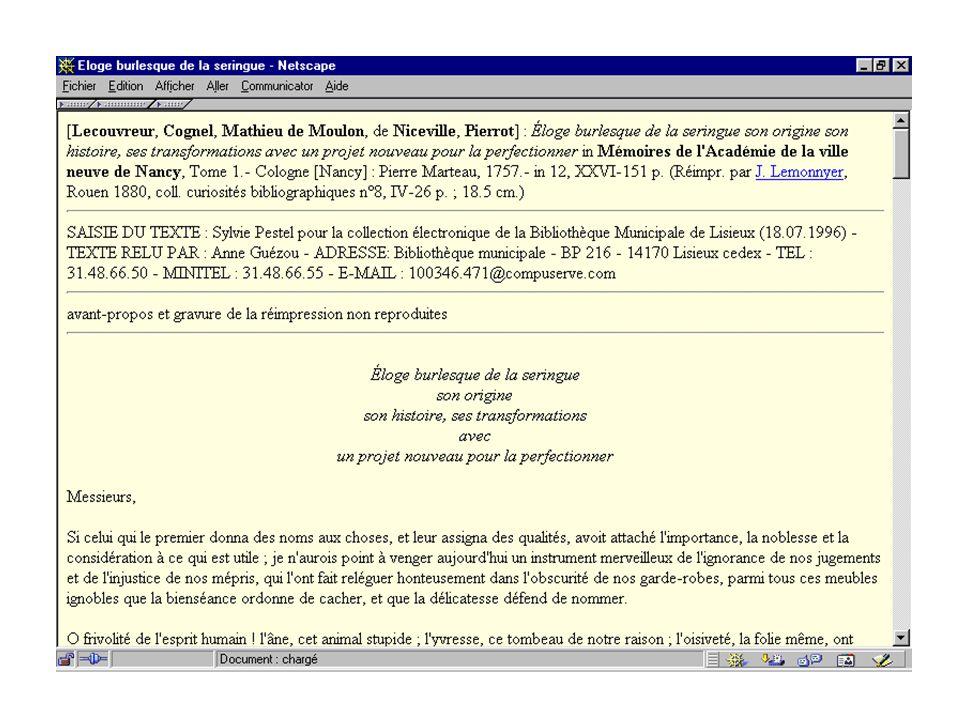 Réservoirs / Jacquesson / Avril 2001 26 Lisieux Montre ce que lon peut faire dintelligent en lecture publique Ne cherche pas à imiter les grands sites universitaires ou nationaux Dabord des idées......