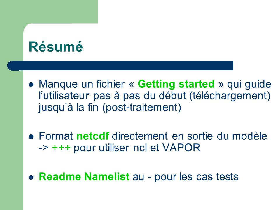 Getting started pour Méso-NH.