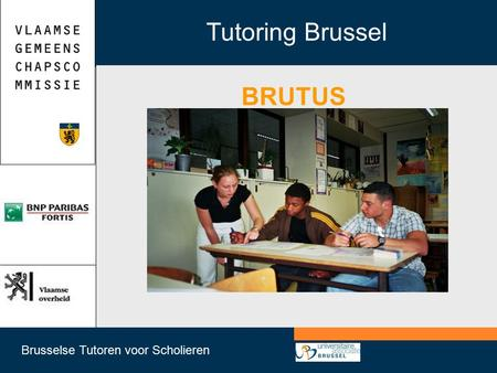 Brusselse Tutoren voor Scholieren Tutoring Brussel BRUTUS.