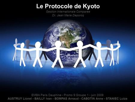 Le Protocole de Kyoto Gestion Internationale Comparée