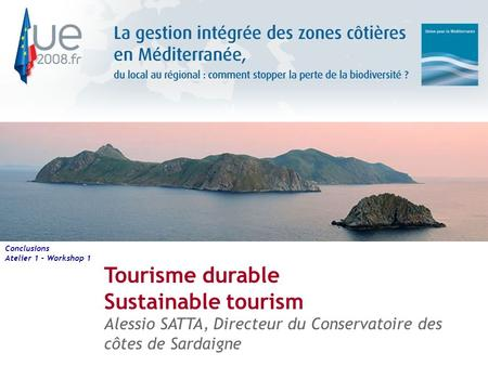 Tourisme durable Sustainable tourism