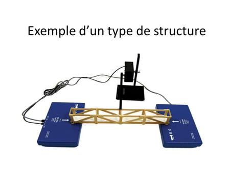 Exemple d'un type de structure