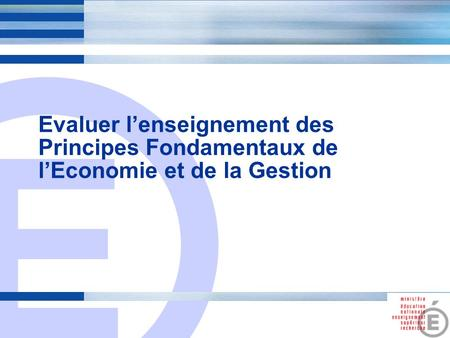Evaluation des  enseignements d'exploration  (note de la DGESCO du 20/04/10)