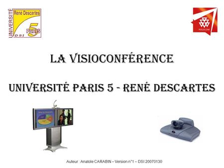 La Visioconférence Université Paris 5 - René Descartes