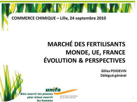 Marché des fertilisants Monde, UE, France Évolution & Perspectives