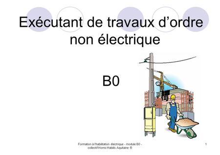 Cours sécurité électrique ppt